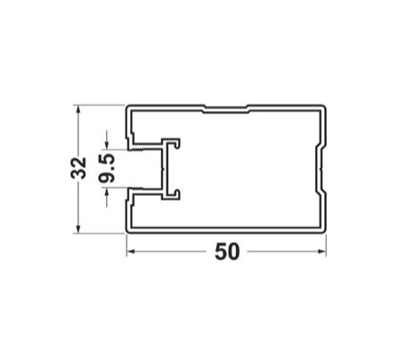 Боковой профиль для дверей купе квадро