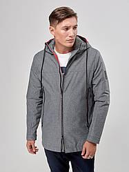 Мужская демисезонная куртка Riccardo Т5 50 Gray (2rc_034_50)