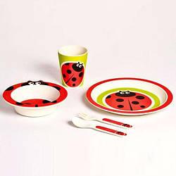 Детский набор посуды 5 пр божья коровка Con Brio СВ-255