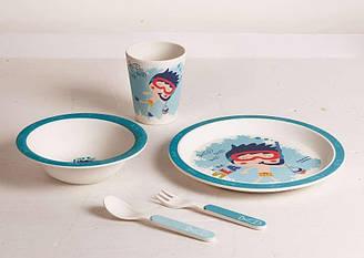 Детский набор посуды 5 пр мальчик-ныряльщик Con Brio СВ-252