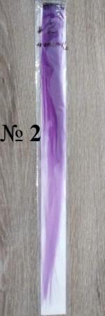 Канекалон в стилі омбре (кольорові пасма волосся для зачіски), 3,5 см * 50 см. Фіолет з бузковим (на фото №2)