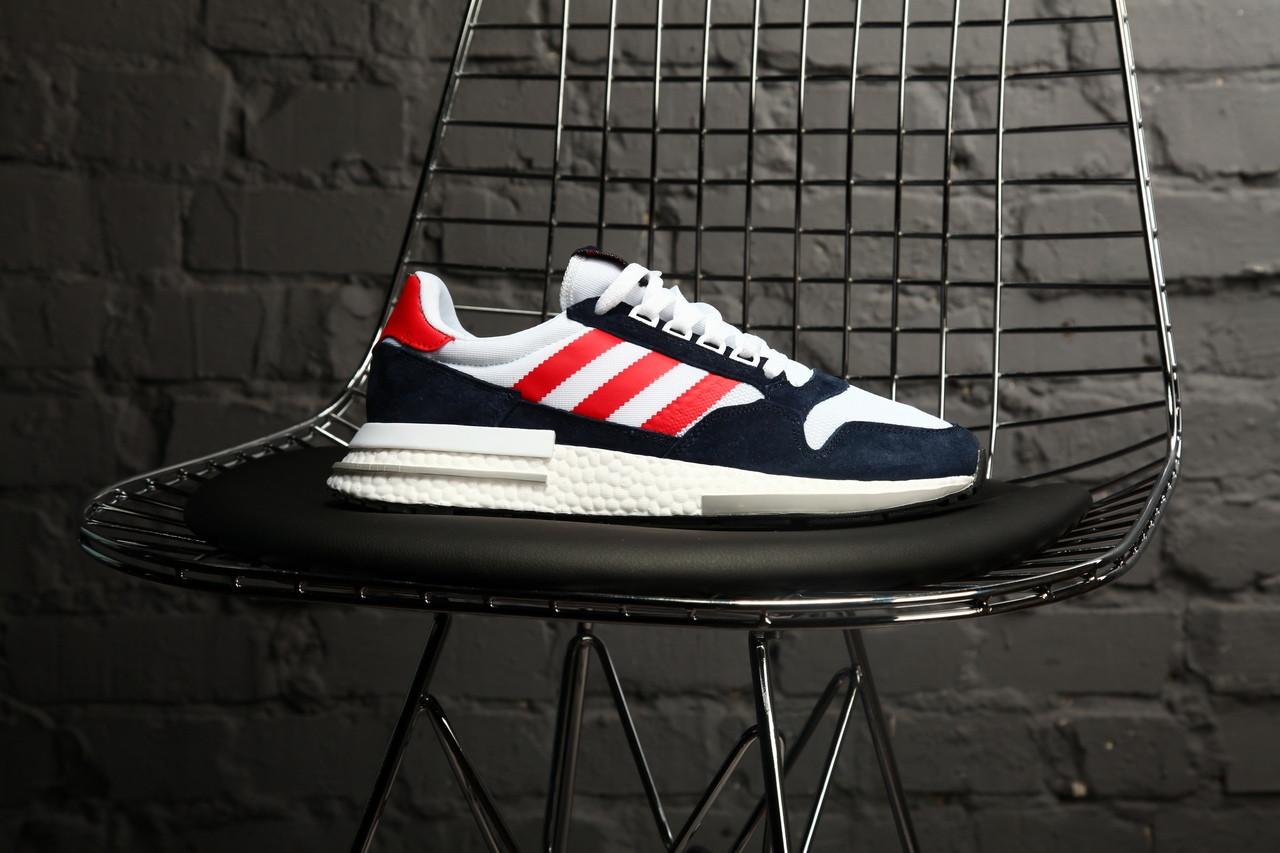 4c0b4296328b Кроссовки Адидас Adidas Originals ZX 500 RM in Navy/Blue . Новая коллекция!  + Скидка!
