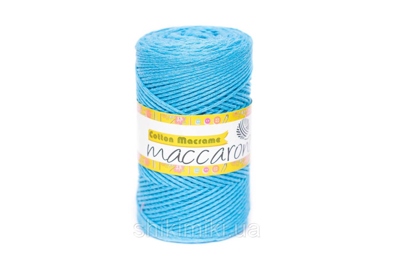 Эко Шнур Cotton Macrame, цвет Ярко-голубой