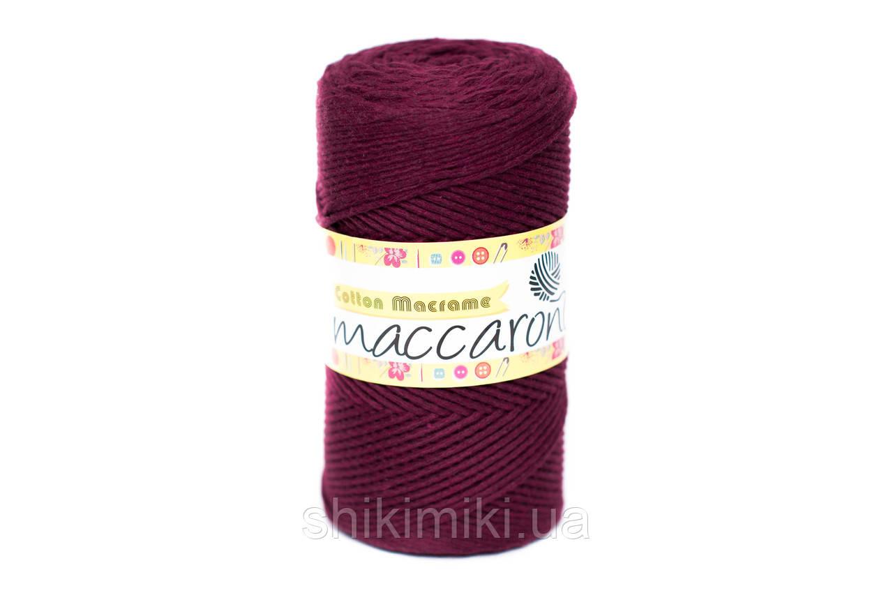 Эко Шнур Cotton Macrame, цвет Винный