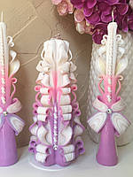 Свадебные свечи нежнейшего цвета