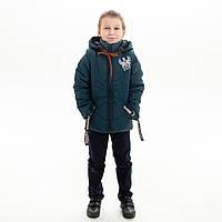 Куртка-жилет демисезонная для мальчика «Паук» бутылочный 2-7 лет