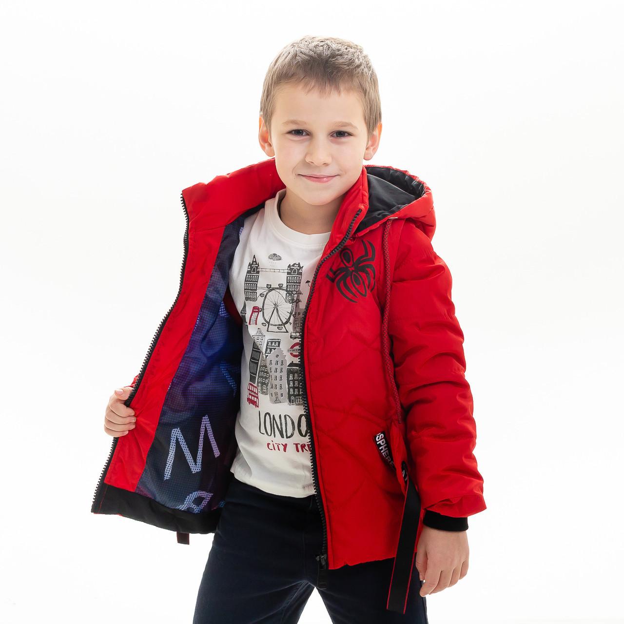 f23fd9cb3da3 Куртка-жилет демисезонная для мальчика «Паук» красный 2-7 лет - Интернет