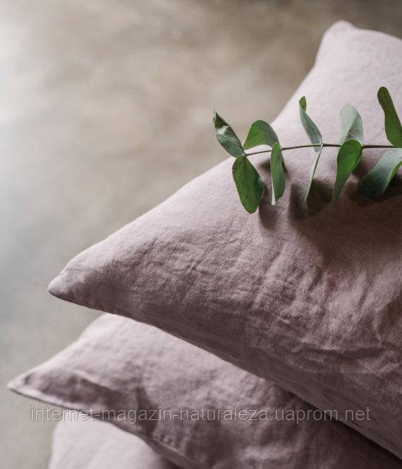 Льняное постельное белье Лиловый Полуторный