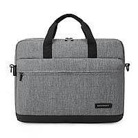 """Сумка для ноутбука 15.6"""" Bagsmart серая (BM0140009A008)"""