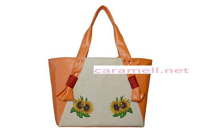 Женская сумка с вышивкой Подсолнухи