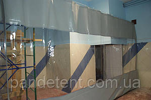 ПВХ шторы для разделения помещений цеха, производства