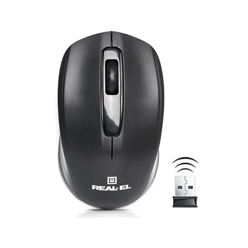 Мышь REAL-EL RM-304 WL USB Black USB