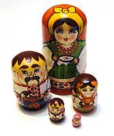Сувенир Матрешка из 5 кукол 11 см. Ручная работа