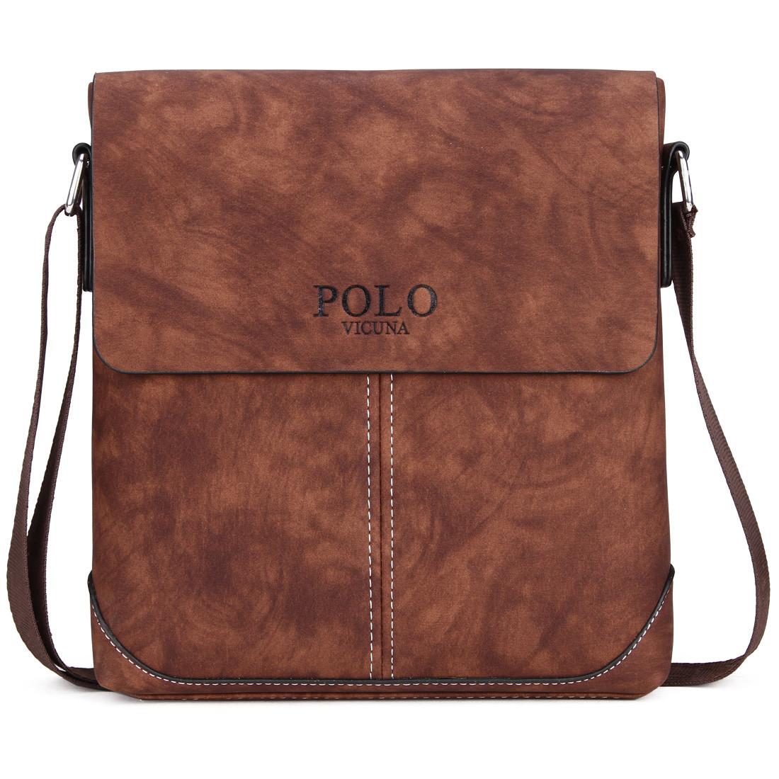 2e02b539cdd9 Мужская сумка Polo Vicuna коричневая (8827-BR): продажа, цена в Буче ...