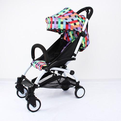YOYA 175А+ Детская коляска  ЦВЕТ радуга, рама белая