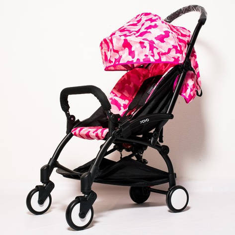 YOYA 175А+ Детская коляска  ЦВЕТ РОЗОВЫЙ ХАКИ, рама белая, фото 2