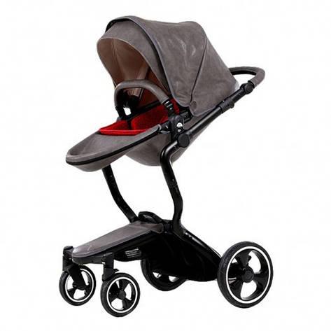Детская коляска foofoo 2 in 1 (серая), фото 2