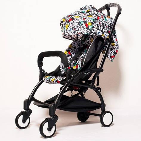 YOYA 175А+ дисней Детская коляска, рама белая, фото 2
