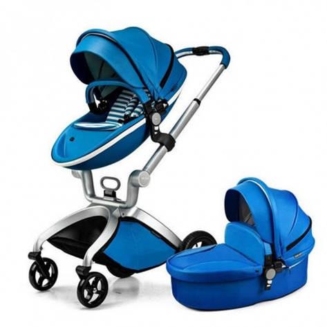 Коляска Hot Mom 2в1 синяя, фото 2