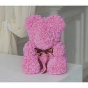 Мишка из розовых роз