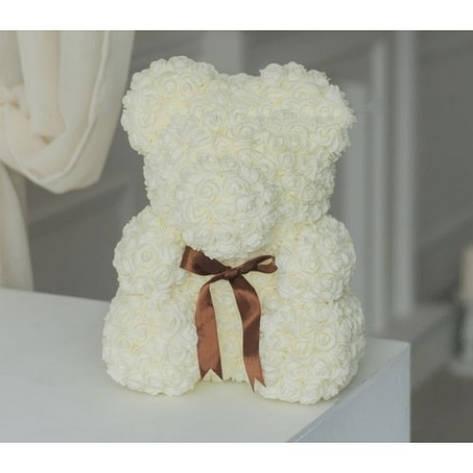 Мишка из белых роз, фото 2
