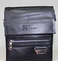 Сумка Fashion 18-88826-1 мужская черная из искусственной кожи с ремнем на плечо 21х16х5см