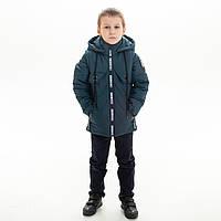 Куртка-жилет демисезонная для мальчика «Плейн» бутылка 4-9 лет