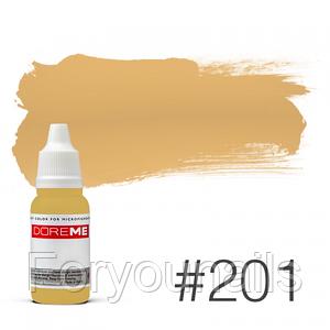 Пигмент для татуажа Doreme LIQUID 201 Buttercup 15 мл
