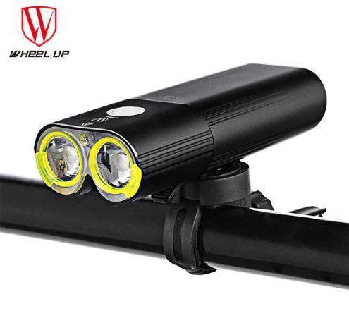 Велосипедна фара WheelUp V9D-1600Lm IPX6 1600 люмен 5000мАч + виносна кнопка на кермо