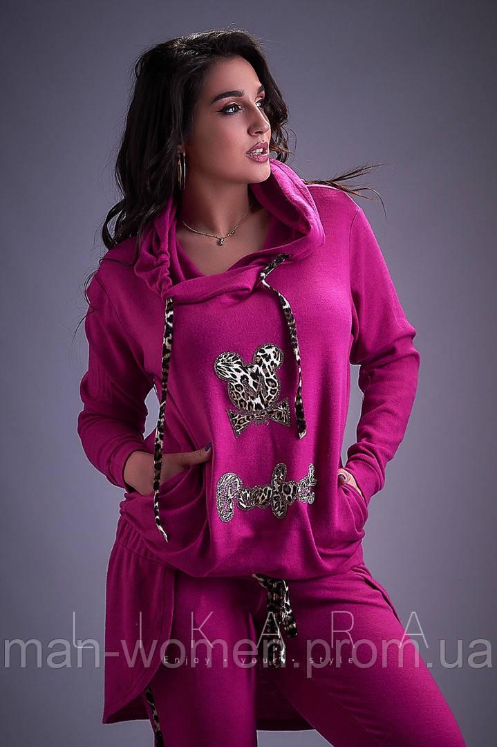 Красивый женский костюм из двухнитки от ТМ Likara-Размер: 48-50,52-54,56 (58,60,62)
