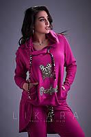 Красивый женский костюм из двухнитки от ТМ Likara-Размер: 48-50,52-54,56 (58,60,62), фото 1