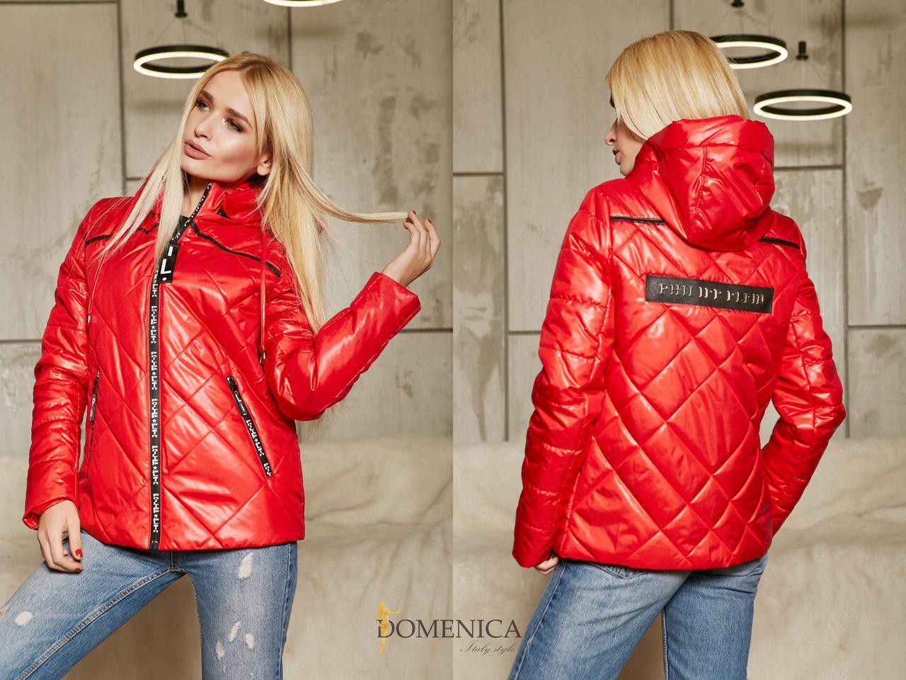 64d9c814e4b Короткая женская демисезонная куртка с капюшоном в расцветках (от 42 до 52  размера) v4725