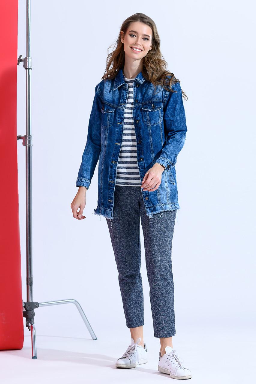Джинсовая женская куртка дг ат1827