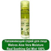 Увлажняющий спрей для лица Welcos Aloe Vera Moisture Real Soothing Gel Mist 100%
