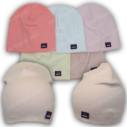 Модные шапки из трикотажа, р. 48-50