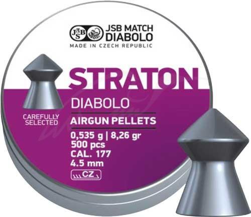 Пули для пневматики JSB Diabolo Straton 4,5 мм 0,535  гр (500 шт/уп)