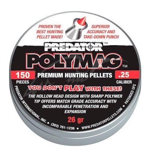 Пули для охоты с пневматикой 6,35 mm JSB Polymag 1,645 г 150 шт/уп