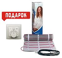 Теплый пол DEVI нагревательный мат двухжильный DTIR-150/1800Ват/12м² + в подарок терморегулятор Arnold Rak