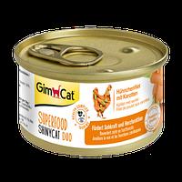 Консвервированный корм GimCat Superfood ShinyCat Duo для кошек с курицей и морковью, 70 г
