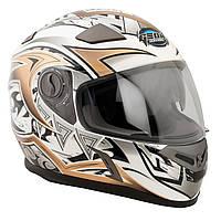Шлем GEON 952 Интеграл Tatoo белый-бронза