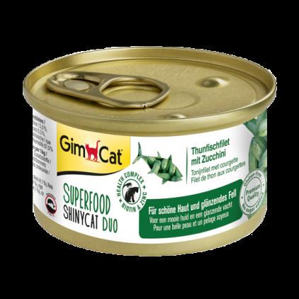 Консервированный корм GimCat Superfood ShinyCat Duo для кошек с тунцом и цуккини, 70 г