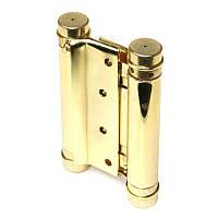Петля пружинная двойная METR 30 золото