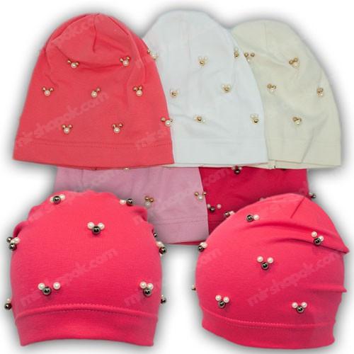 Трикотажные шапки для девочек, р. 48-50