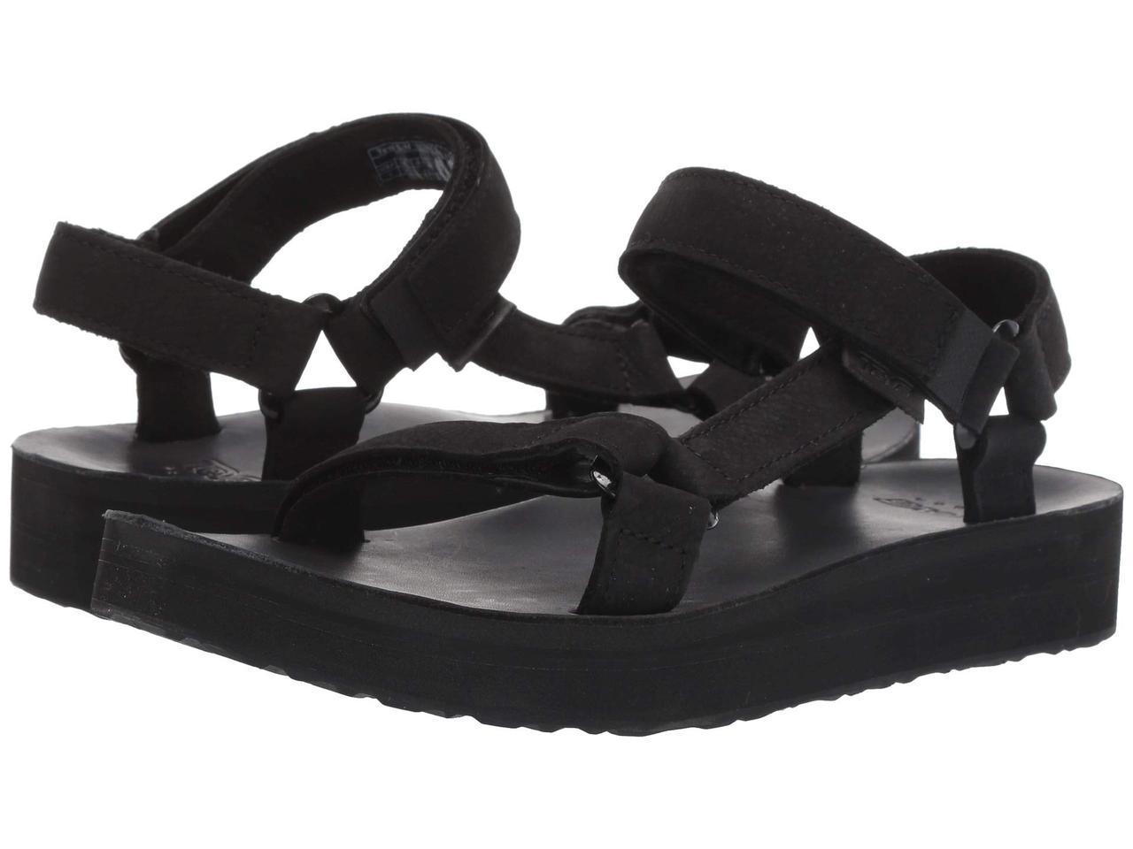 Сандали/Вьетнамки (Оригинал) Teva Midform Universal Leather Black