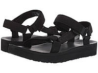 Сандали/Вьетнамки (Оригинал) Teva Midform Universal Leather Black, фото 1
