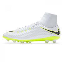 100% authentic f97b5 1c6a8 Бутсы Nike Hypervenom Phantom 3 Academy DF AG White ChrVolt - Оригинал