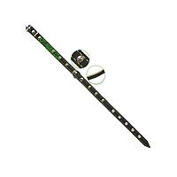 Ошейник 14 мм украшенный с кожаной подкладкой