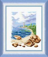 Набор для вышивки «Ракушки и маяк»