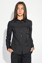 Блузка, рубашка женская  классического кроя 496F001 (Черный)