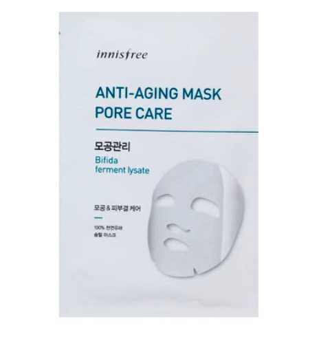 Тканевая маска Уход за порами и омоложение Innisfree Anti-aging Mask Pore Care
